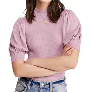 Ligyt Pink Puff Sleeve T